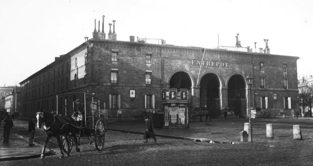 L'entrepôt réel des denrées coloniales, plus connu sous le nom d'entrepôt Lainé. Source : Gallica/BnF